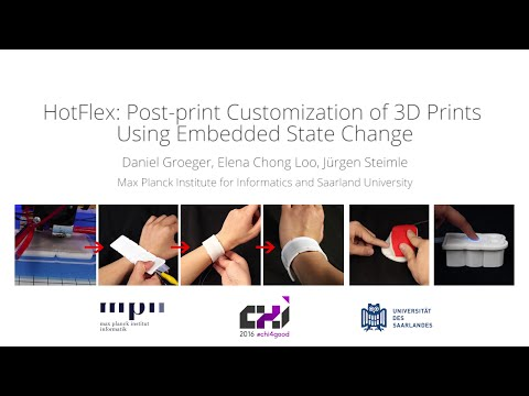 HotFlex: Post-print Customization of 3D Prints Using Embedded State Change