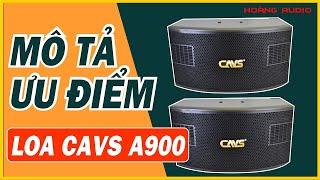 Review mô tả ưu điểm nổi bật, đập hộp, hát thử Loa CAVS A900 - Loa karaoke cho mọi gia đình