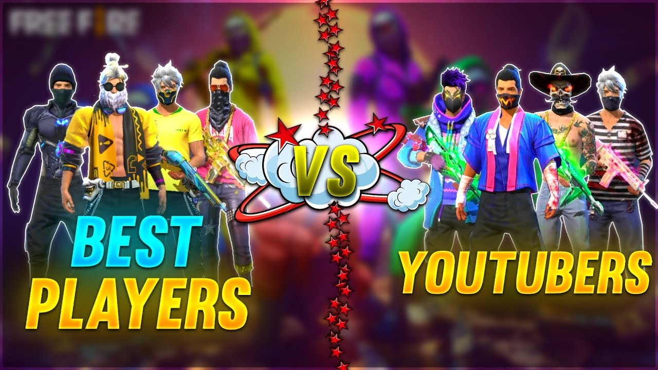 YOUTUBERS VERSUS THE BEST TEAMS / ROCKY & RDX FREE FIRE LIVE