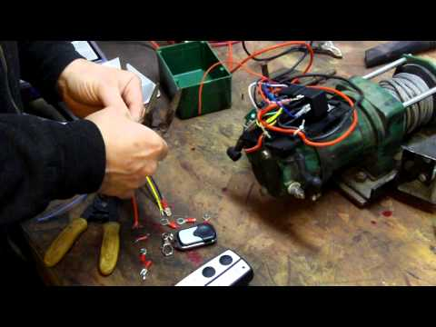 Replacing wireless remote receiver for winch - YouTube on