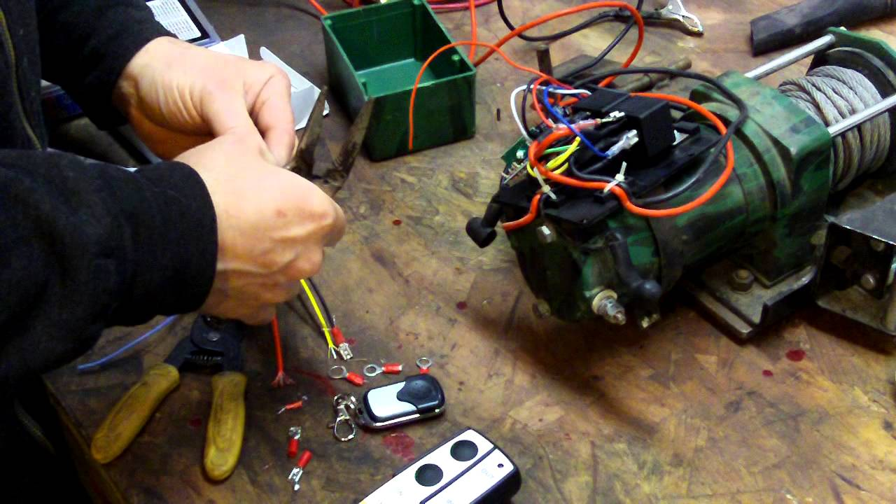 wireless winch remote wiring diagram power inverter schematic replacing receiver for - youtube