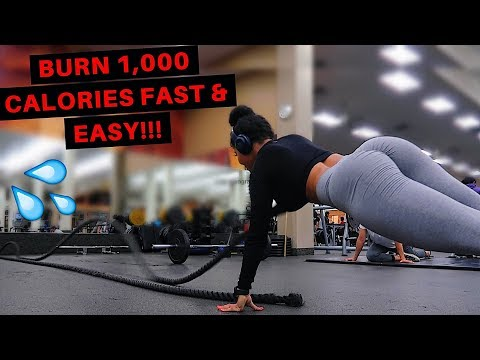 BURN 1,000 CALORIES FROM WEIGHT LIFTING & CARDIO WORKOUT