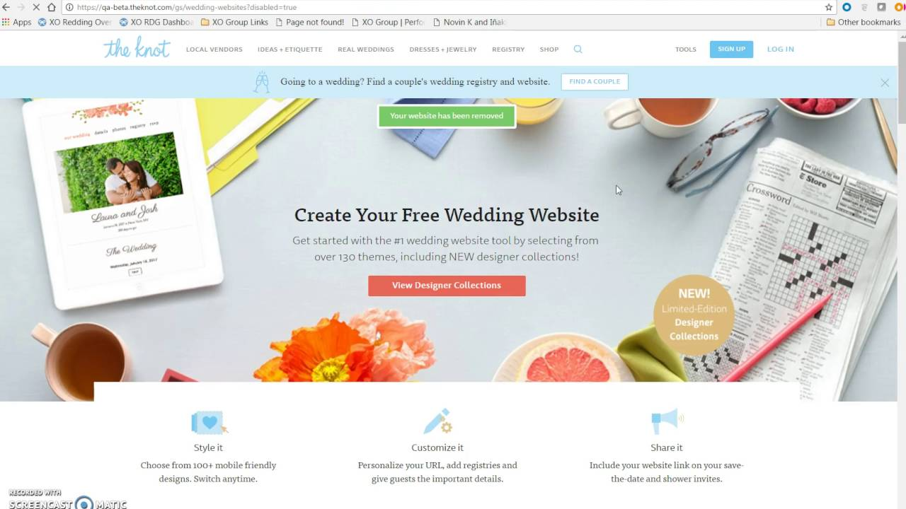 Delete your wedding website on The Knot - YouTube