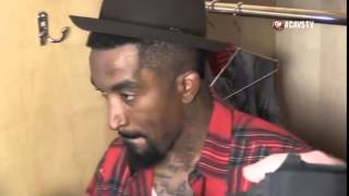 J R Smith Interview Postgame Warriors vs Cavaliers Game 4 2015 NBA Finals