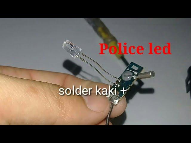 Cara Membuat police led dari bekas mesin jam dinding - jangan buang mesin jam dinding rusak