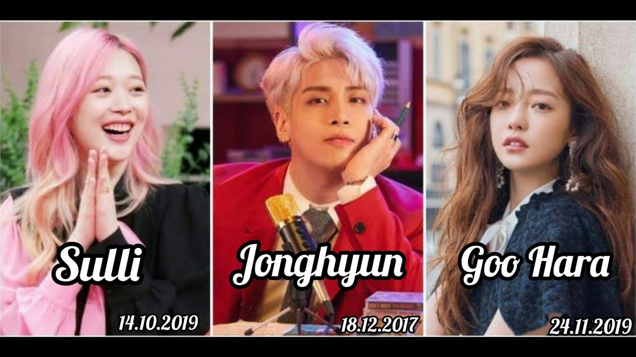 Vefat Eden İdoller : Sulli, Jonghyun, Goo Hara...