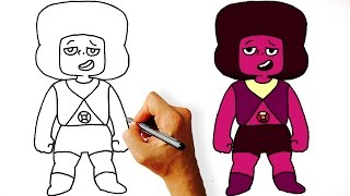 How to Draw Ruby Navy from Steven Universe Step by Step