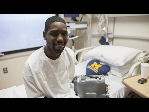 University of Michigan total artificial heart patient goes home