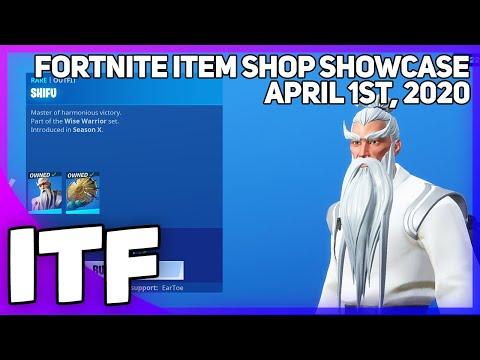 Fortnite Item Shop SHIFU IS BACK! [April 1st, 2020] (Fortnite Battle Royale)