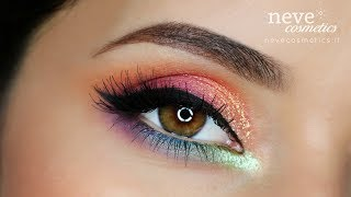Rainbow inspired makeup tutorial & GLOSSY ARTIST brushes - Neve Cosmetics