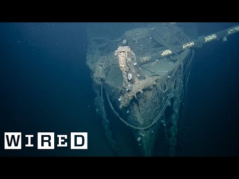 Sunken WWII Aircraft Carrier - First Look At Shipwreck | WIRED