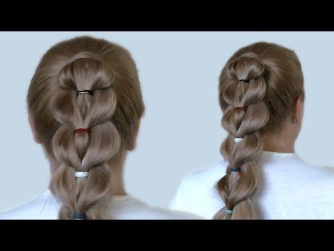 Причёска Высокий хвост. Красивая причёска. Видео-урок