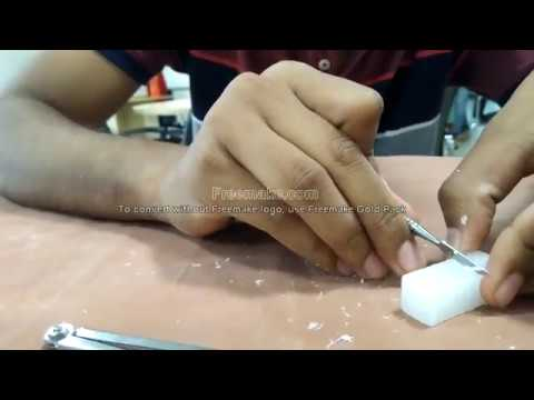 central incisor carving by wax block