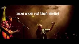 udayo relaile (chari maryo sisaiko goli le) ||Karaoke with Lyrics || Nepathya ||Best Quality ||