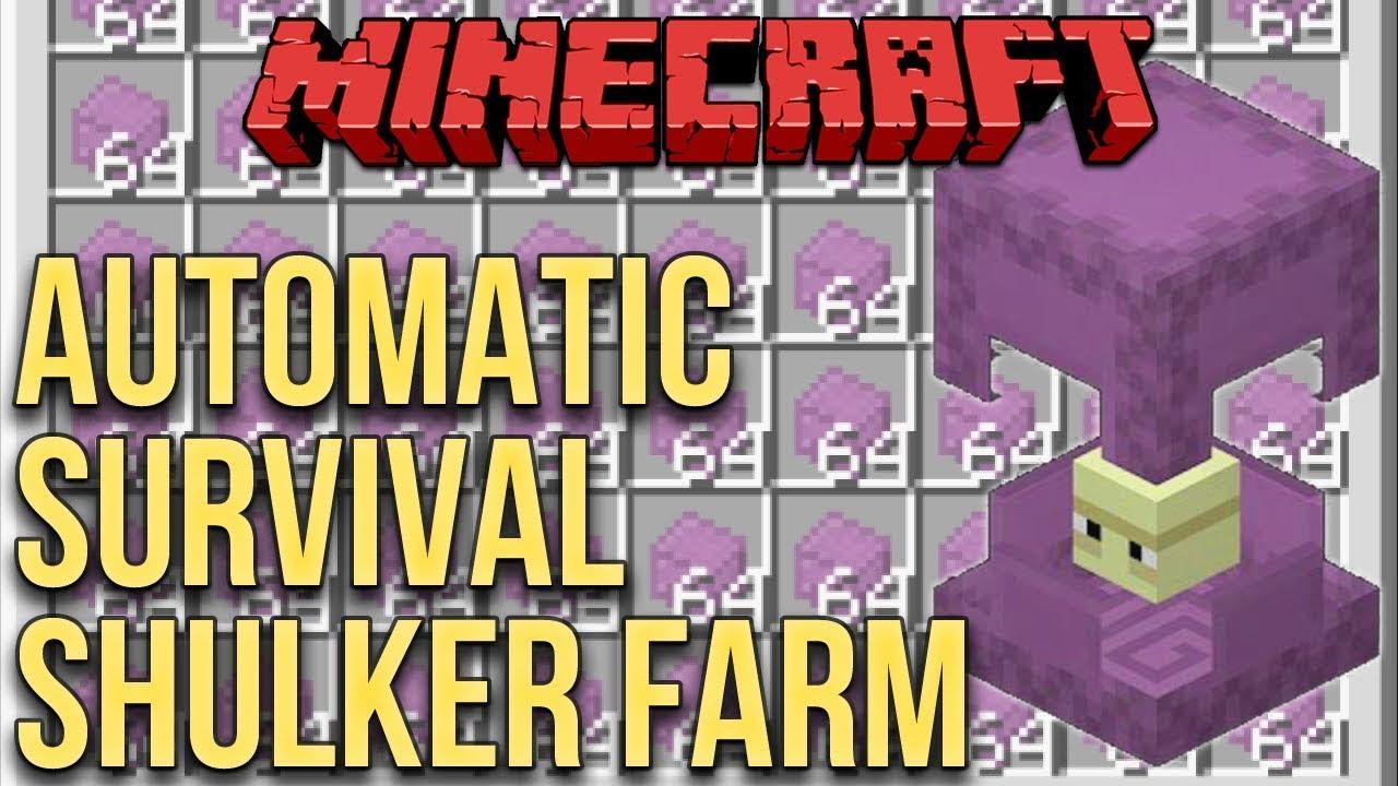 Minecraft Automatic Shulker Farm 100 Survival Minecraft Youtube