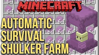 Minecraft: Automatic Shulker Farm (100% Survival Minecraft)