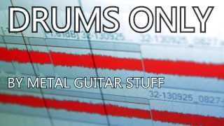 DRUMS ONLY - Metal Drum Backing Track 160 BPM