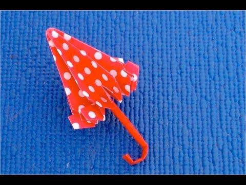 Смотреть DIY  Как сделать зонтик для кукол  Кукольный зонтик из бумаги своими руками  Мастер класс