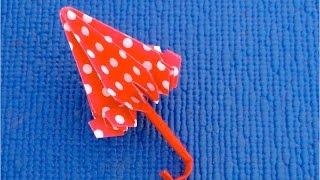 DIY: ♡ Как сделать зонтик для кукол♡  Кукольный зонтик из бумаги своими руками♡  Мастер класс