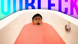One of Guava Juice's most viewed videos: OOBLECK BATH CHALLENGE!