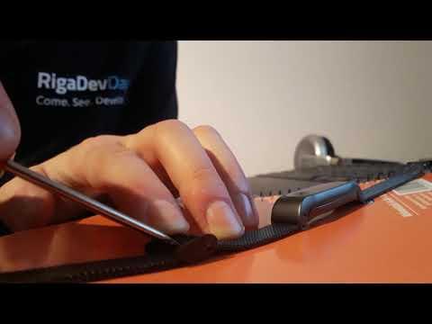 Adjust band length, D.MRX Metal Case Watch Strap for Xiaomi Miband 2  -  GUN METAL