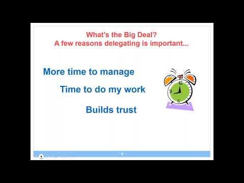 Supervisor Series  Delegating Effectively