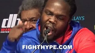 0 to 100 stiverne erupts and gets deadly serious with wilder looks him eyes and threatens death
