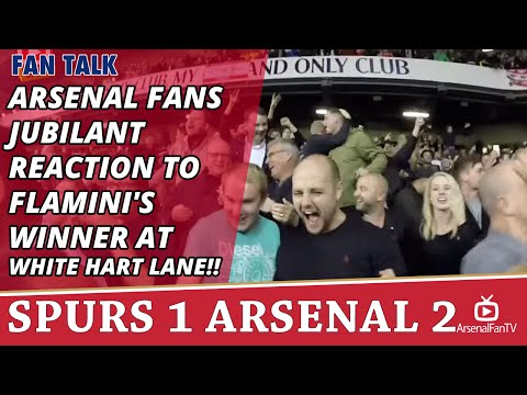 Arsenal Fans Jubilant Reaction To Flamini's Winner At White Hart Lane!!