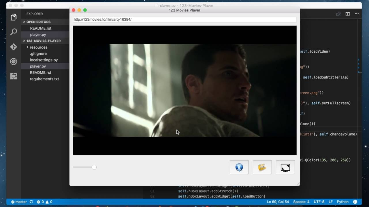 http://123movies to Player And Subtitle Loader (PyQT & VLC)