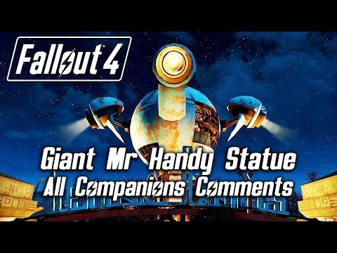 fallout-4---giant-mr-handy-statue---all-companions-comments