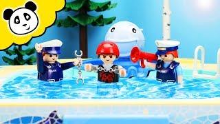 Playmobil Polizei - Kevin bricht ins Schwimmbad ein - Playmobil Film