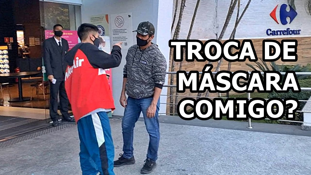 TROCANDO DE MÁSCARA COM DESCONHECIDOS!! #respondagabriel1