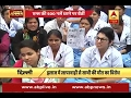 AIIMS nursing union holds protest over colleague's death during treatment