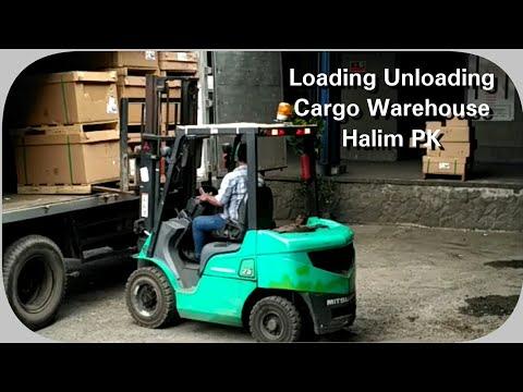 Loading Unloading Cargo @warehouse Halim Perdanakusuma