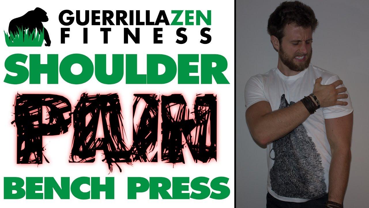 shoulder pain bench press | relief technique - youtube
