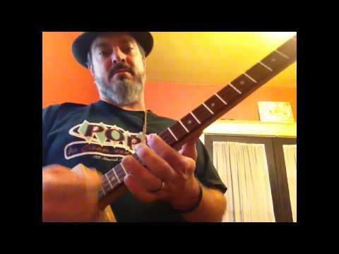 neanderpaul 4 string CBG tuning Cigar box guitar nation C,G,C,Eflat tutorial