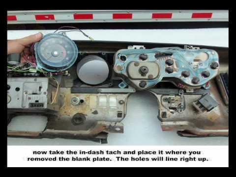 1971 Dodge Wiring Diagram Gto Lemans Dash Tachometer Installation Youtube