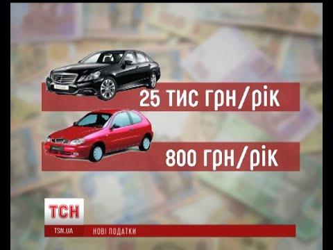 Новые налоги за авто