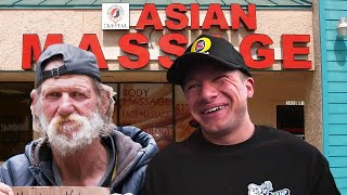 Getting a Happy Ending Massage With a Homeless Man!