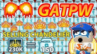 🔥SELLING 230.000 CHANDELIER🔥GT BIGGEST SELLING CHAND HISTORY!🔥 + (GOT 150 DLs!)😊 | GROWTOPIA
