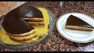 بدون فرن بدون بيض و لا جيلاتين حضري أروع طورطة طبقات في دقائق Entremet 3 chocolats