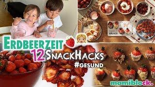 12 Snack Hacks mit Erdbeeren 🍓😋| Gesunde Süßigkeiten | mamiblock
