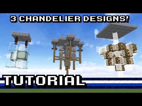 Minecraft 3 Chandelier Designs Tutorial Youtube