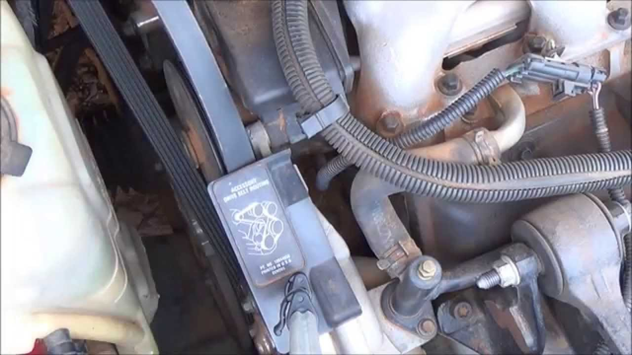 gm 60 v6 serpentine belt replacement 3100 3400 sfi youtube rh youtube com