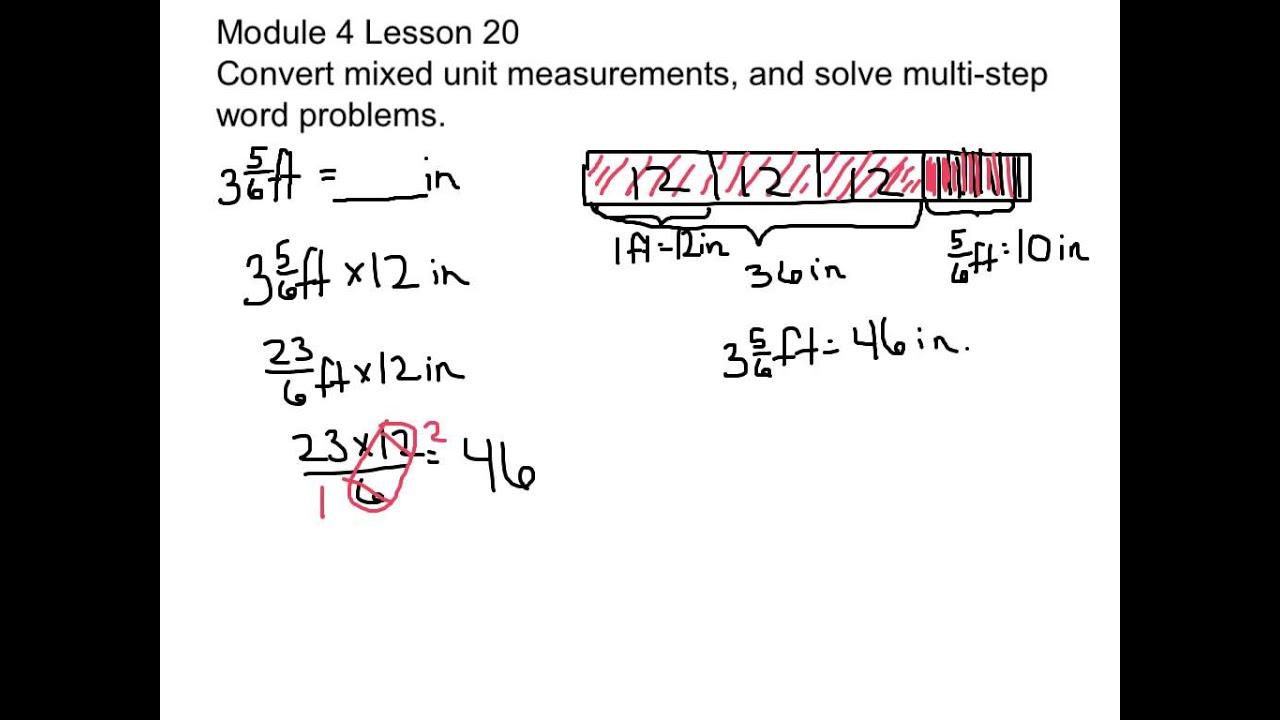 Convert Mixed Unit Measurements (solutions, examples