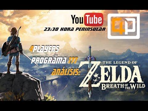 Podcast 4Players directo edición Nº177 Análisis Zelda Breath of the wild