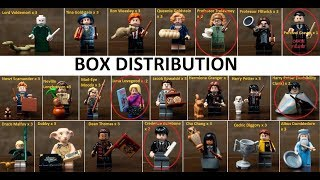 Lego 71022 Harry Potter Collectible Minifigures Box Distribution Revealed
