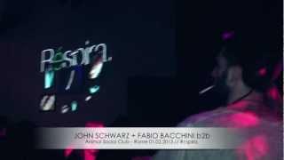 John Schwarz & Fabio Bacchini b2b @ Réspira, Animal Social Club - Rome 01.02.2013