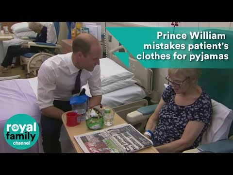 Prince William left red-faced as he mistakes patient's clothes for pyjamas