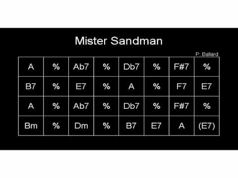 Mister Sandman Gypsy jazz playback